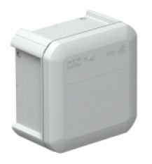 Коробка расключительная 90x90x52мм (с вводом)