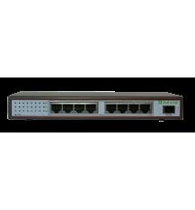 Коммутатор гигабитный PoE PL-981GG-FB (8 port Poe, 1 SFP port )